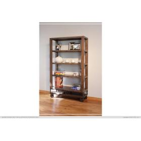 """See Details - 70"""" Bookcase with 4 shelves & Casters"""