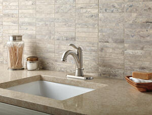 Brushed Nickel Single Handle Bathroom Faucet Product Image