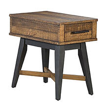 Urban Rustic Chairside Table