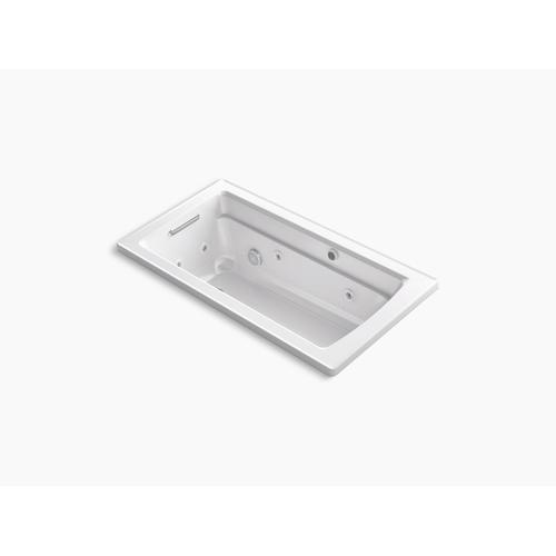 "Almond 60"" X 32"" Drop-in Whirlpool + Heated Bubblemassage Air Bath"