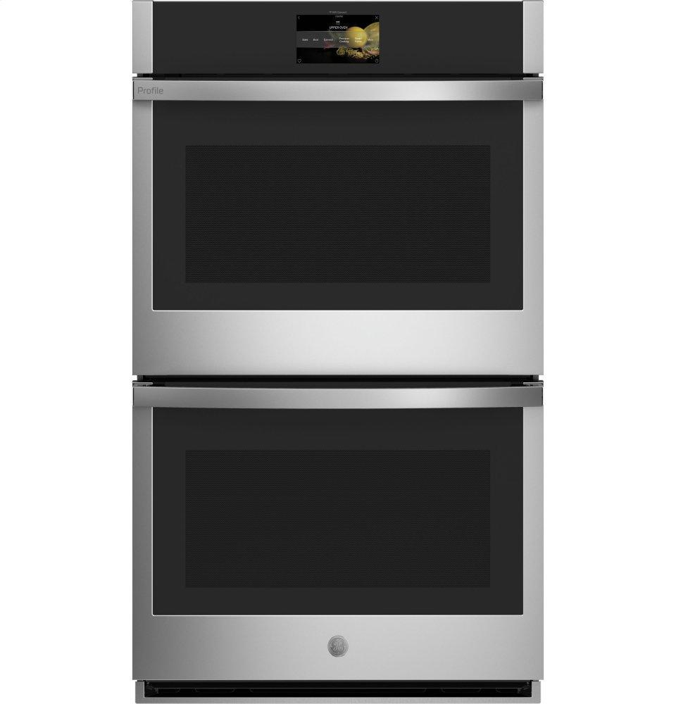 """GE Profile30"""" Smart Built-In Convection Double Wall Oven With In-Oven Camera And No Preheat Air Fry"""