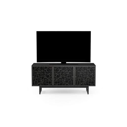 BDI Furniture - Elements 8777 Media Media Cabinet in Ricochet Doors Charcoal Stained Ash