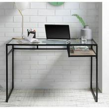 ACME Yasin Desk - 92580 - Black & Glass