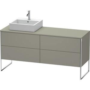 Vanity Unit For Console Floorstanding, Stone Gray Satin Matte (lacquer)