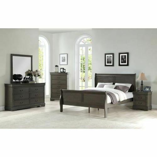ACME Louis Philippe Queen Bed - 26790Q - Dark Gray