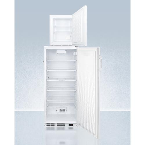 Ffar10pro 10.1 CU.FT. Auto Defrost All-refrigerator With Digital Controls and Compact Manual Defrost Fs30lpro All-freezer With Stacking Rack, Both With Factory-installed Probe Holes