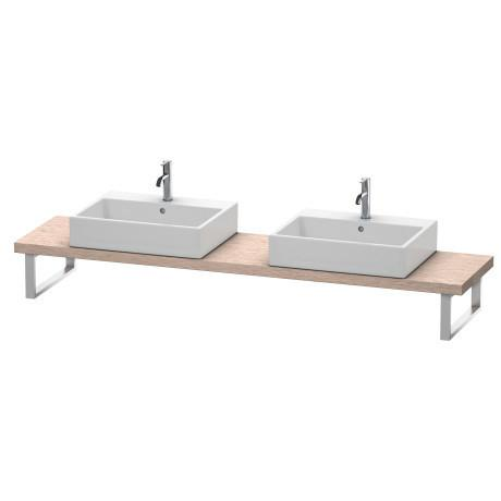 Console For Above-counter Basin And Vanity Basin Compact, Cashmere Oak