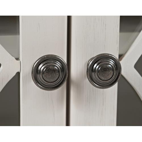 Jofran - Aurora Hills 4 Door Accent Chest-b. White/bisque