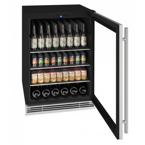 "U-Line - Hbv024 24"" Beverage Center With Stainless Frame Finish (115 V/60 Hz Volts /60 Hz Hz)"