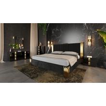 See Details - Modrest Token Modern Black & Gold Bedroom Set