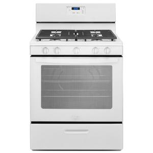 5.1 cu. ft. Freestanding Gas Range with Five Burners - WHITE