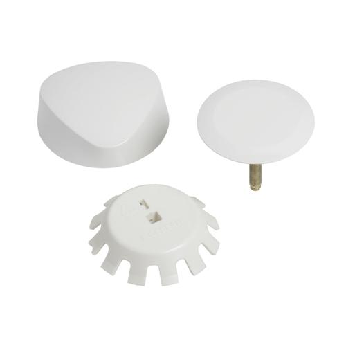 TurnControl Bath Waste and Overflow A dazzling turn Molded plastic - White Material - Finish