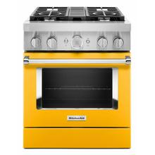 See Details - KitchenAid® 30'' Smart Commercial-Style Dual Fuel Range with 4 Burners - Yellow Pepper
