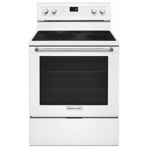 KitchenAid30-Inch 5-Element Electric Convection Range - White