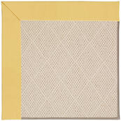 Creative Concepts-White Wicker Canvas Canary Machine Tufted Rugs