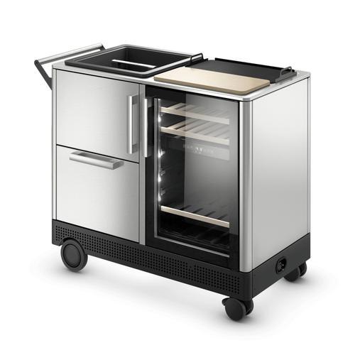 Dometic Mobar - Outdoor mobile bar, rotomolded basket, dual zone refrigerator, stainless-steel