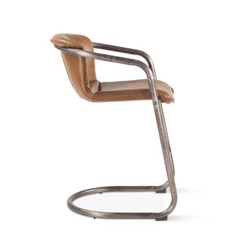 Portofino Leather Counter Chair Berham Chestnut