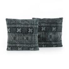 Mud Cloth Print Pillow, Set of 2-20x24""
