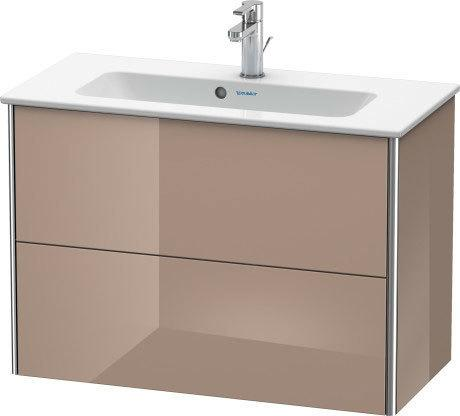 Product Image - Vanity Unit Wall-mounted Compact, Cappuccino High Gloss (lacquer)