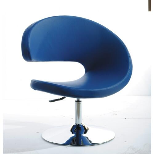 VIG Furniture - Modrest Adara Modern Blue Leatherette Lounge Chair