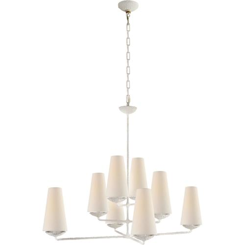 AERIN Fontaine 8 Light 39 inch Plaster White Offset Chandelier Ceiling Light, Large