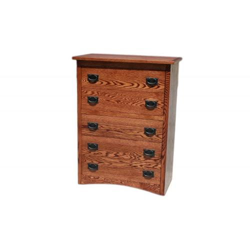 O-M315 Mission Oak 5-Drawer Youth Chest
