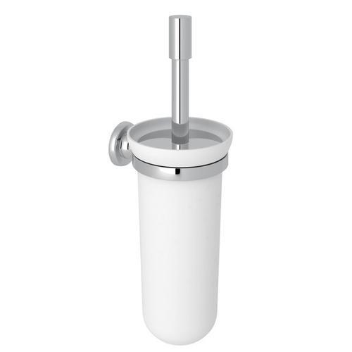 Polished Chrome Perrin & Rowe Holborn Wall Mount Toilet Brush Holder