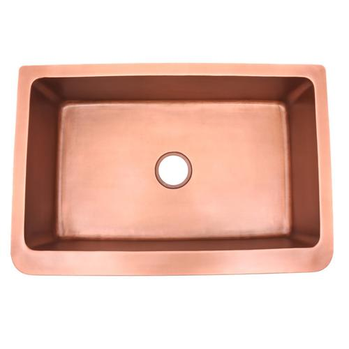 Sunflower Single Bowl Copper Farmer Sink - 30""