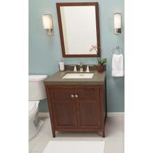 """Briella 30"""" Bathroom Vanity Cabinet Base in Vintage Honey"""
