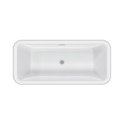 """Verron 69"""" Acrylic Tub with Integral Drain and Overflow - Oil Rubbed Bronze Drain and Overflow"""