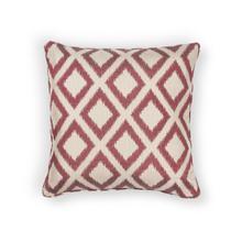 "L243 Red Diamonds Pillow 18"" X 18"""