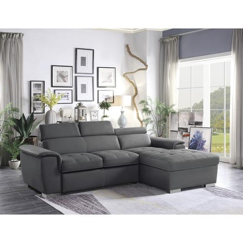 Gallery - 2-Piece Sectional with Pull-out Bed and Hidden Storage