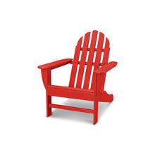 Sunset Red Classic Adirondack Chair