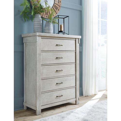 Brashland Five Drawer Chest White