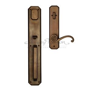 AGTUB Escutcheon Shown with Casa 858 lever in light bronze patina Product Image
