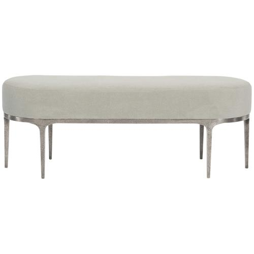 Linea Metal Bench in Textured Graphite Metal (384)