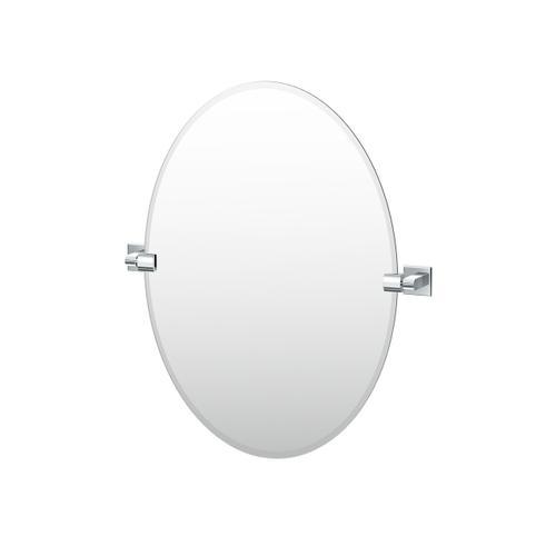 Sky Oval Mirror in Matte Black