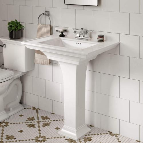 American Standard - Town Square S Pedestal Sink - 4-inch Centers  American Standard - White