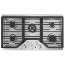 """36"""" Built-In Tri-Ring Gas Cooktop with 5 Burners and Included Extra-Large Integrated Griddle"""