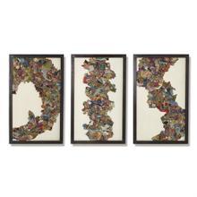 Kantha C Abstract Design w/Metal Frame