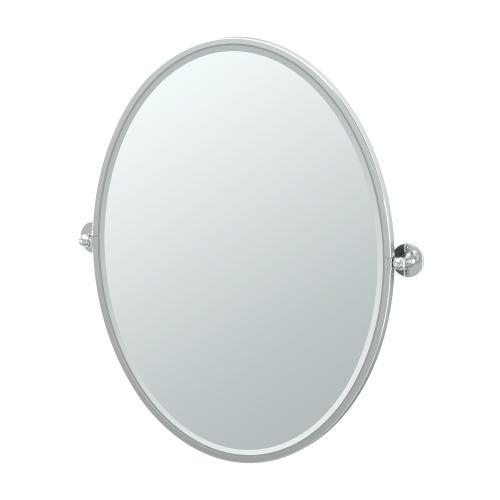 Cafe Framed Oval Mirror in Chrome