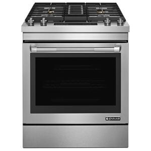"JennAirPro-Style(R) 30"" Dual-Fuel Downdraft Range Pro Style Stainless"