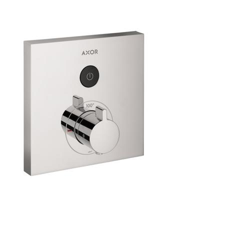 Chrome Thermostatic Trim Square for 1 Function