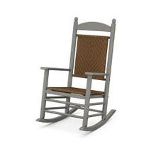 View Product - Jefferson Woven Rocking Chair in Slate Grey / Tigerwood
