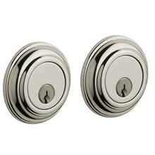View Product - Polished Nickel with Lifetime Finish Traditional Deadbolt