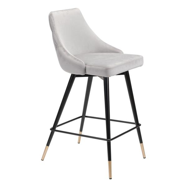 See Details - Piccolo Counter Chair Gray