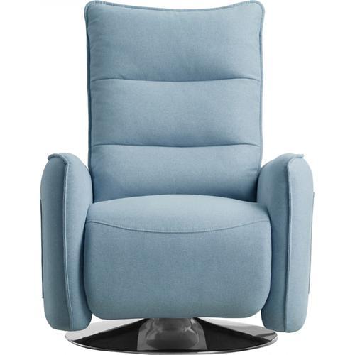 VIG Furniture - Divani Casa Fairfax Modern Blue Fabric Recliner Chair