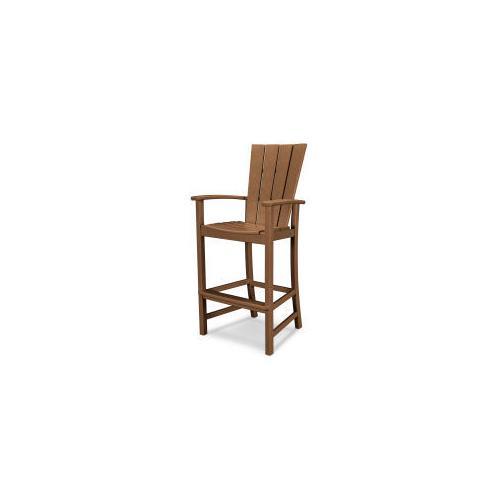 Polywood Furnishings - Quattro Adirondack Bar Chair in Teak