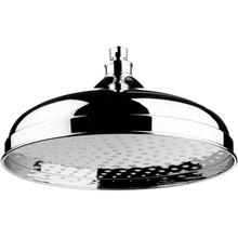 "Chrome Plate 12"" Skirted shower head"
