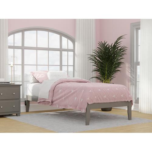 Atlantic Furniture - Colorado Twin Extra Long Bed with USB Turbo Charger in Grey